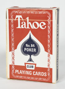 Tahoe No. 84 Playing Cards (Red)