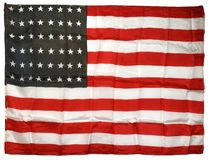 Two 48-Star American Flag Silks