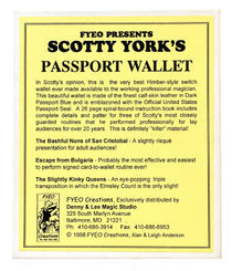 Scotty York's Passport Wallet