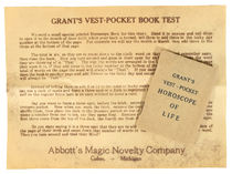 Grant''s Vest-Pocket Book Test