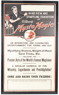 Gilbert's Mysto Magic Framed