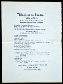 Harry Blackstone Jr. Birth Announcement