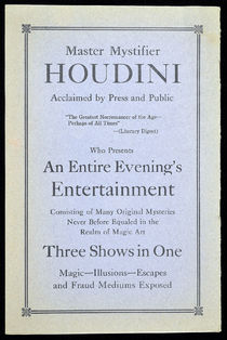 Houdini Performance Advert in SAM Program