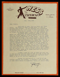 Hess the Magician Letter