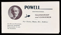 Powell, Distinguished Illusionist and Conjurer Advert