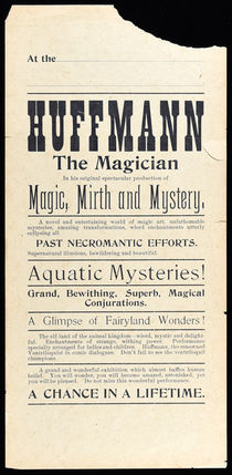 Huffmann the Magician Broadside