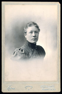 Cabinet Card Portrait of Mrs. Francis J. Werner, Signed