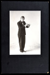 Young Magician Performing a Card Trick