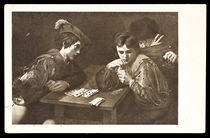 Cheating in a Card Game Postcard