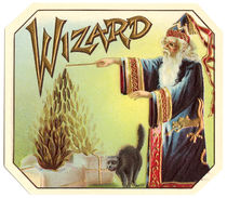 The Wizard Cigar Label