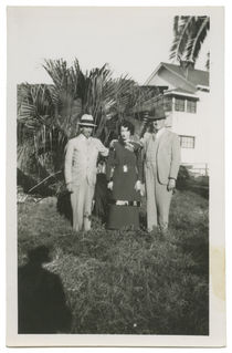 Felix and Gladys Herrmann with C.A. George Newmann