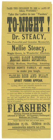Dr. and Nellie Steacy Broadside