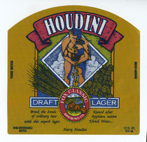 Houdini: Draft Lager Beer Label