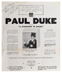 Paul Duke Advert, Signed