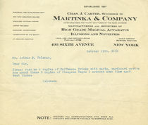 Martinka and Company Correspondence