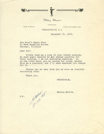 Walton Morris Letter to Joe Berg