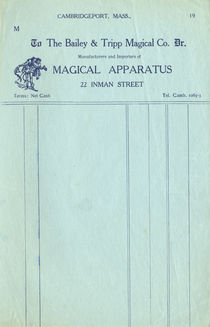 The Bailey and Tripp Magical Co. Letterhead