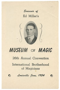 Souvenir of Ed Miller's Museum of Magic