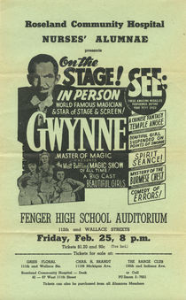 Gwynne, On the Stage! Advert
