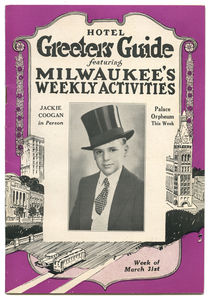 Hotel Greeters Guide, Jackie Coogan