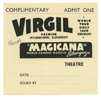 Virgil Premier International Illusionist Complimentary Ticket