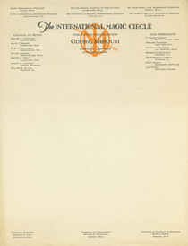 The International Magic Circle Letterhead