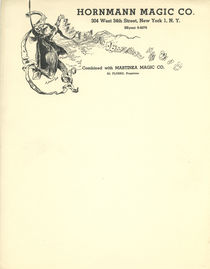 Hornmann Magic Company Letterhead