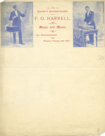 F.O. Harrell, Society Entertainer Letterhead