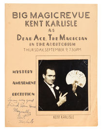 Kent Karlisle Advertisement with Photograph, Inscribed and Signed