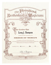 I. B. M. Merlin Certificate for Leroy J. Thompson