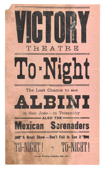Herbert Albini at Victory Theatre in San Jose