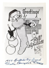 Bill LaFollette Christmas Card, Signed