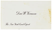 Dai Vernon Business Card