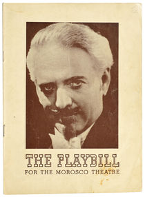 Dante Morosco Theatre Playbill