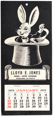 Lloyd E. Jones 1975 Calendar