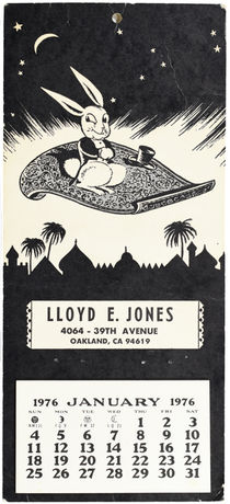 Lloyd E. Jones 1976 Calendar