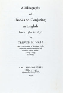 Bibliography of Books on Conjuring in English 1580-1850
