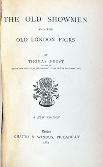 The Old Showmen and the Old London Fairs