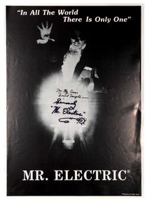 Mr. Electric Signed Poster