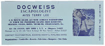 Doc Weiss Escapologist: Miss Terry Lee