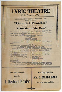 Lyric Theatre Presents Oriental Miracles