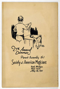 Society of American Magicians 27th Annual Dinner Program