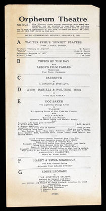 Doc Baker Playbill