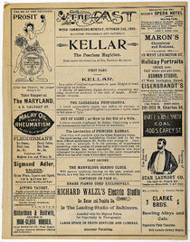 Kellar at the Cast Playbill