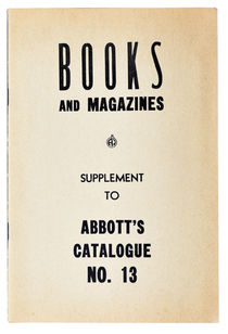 Books and Magazines, Supplement to Abbot's Catalogue No. 13