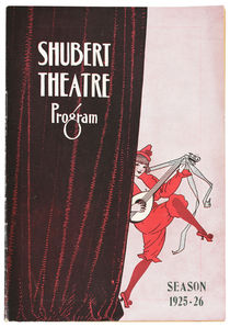 Houdini Program, Shubert Theatre 1925-1926 Season