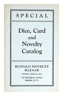Buffalo Novelty Bazaar: Special Dice, Card and Novelty Catalog