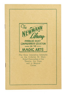 The Newmann Library: America's Most Comprehensive Collection of the Magic Arts