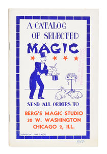 A Catalog of Selected Magic: Berg's Magic Studio
