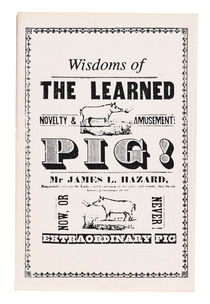 Wisdom of Learned Pig!